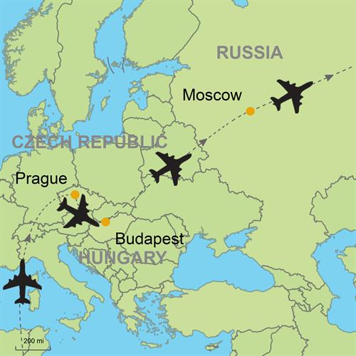 Prague Budapest And Moscow By Air Customizable Itinerary From