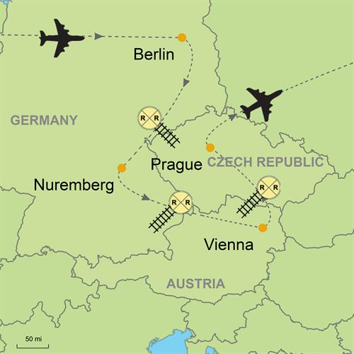 Berlin - Nuremberg - Vienna - Prague Customizable Itinerary from ...