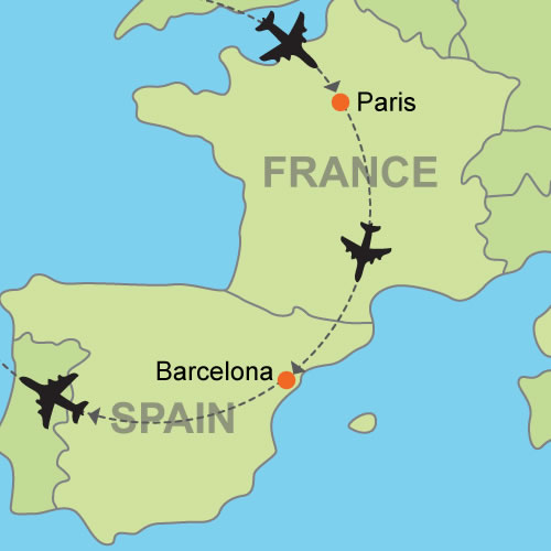Paris and Barcelona by Air Customizable Itinerary from ...