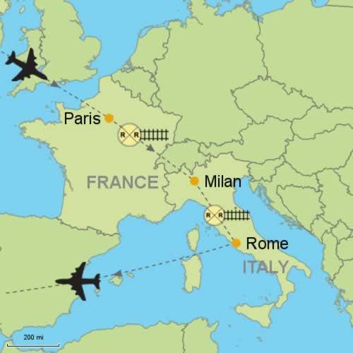 Paris - Milan - Rome Customizable Itinerary from ...