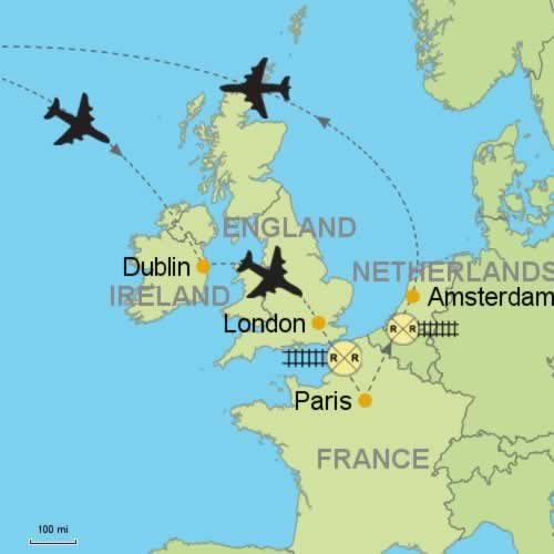 Dublin and london paris amsterdam customizable itinerary from dublin london paris and amsterdam publicscrutiny Choice Image