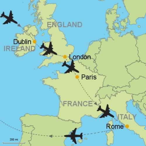 Dublin london paris and rome customizable itinerary from dublin london paris and rome publicscrutiny Choice Image