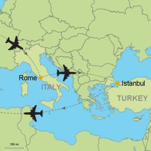 Rome and Istanbul by Air Customizable Itinerary from ...