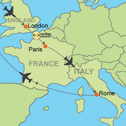 London paris and rome customizable itinerary from lhrcdgfco publicscrutiny Image collections