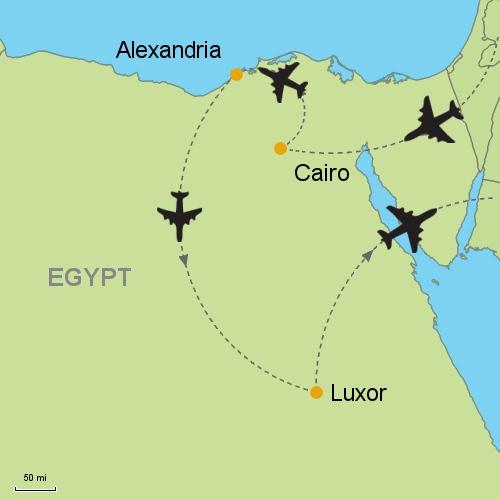 Cairo Alexandria Luxor Customizable Itinerary From