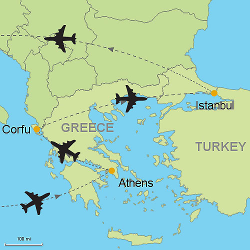 Athens corfu and istanbul by air customizable itinerary from athens corfu istanbul gumiabroncs Image collections