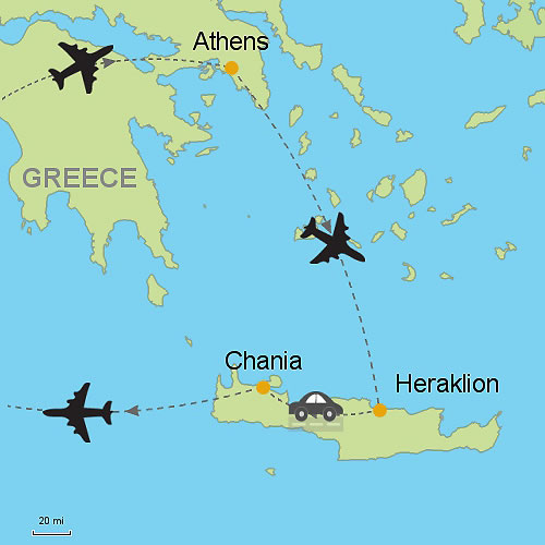 Athens Heraklion and Chania Crete Island Customizable Itinerary