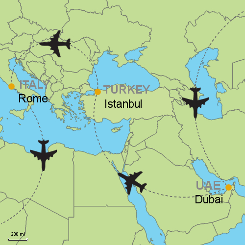 Dubai - Istanbul and Rome by Air Customizable Itinerary from ...